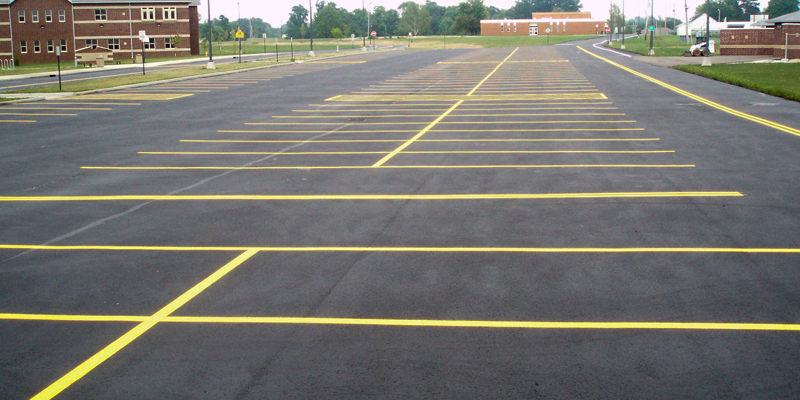 new school parking lot lines